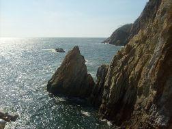 The Cliffs of La Quebrada in Acapulco