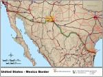 DOT map of Us-mexico-border