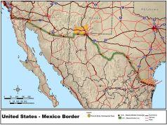 DOT map of Us-mexico-border