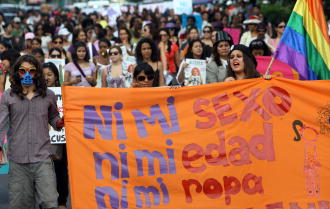 HONDURAS-WOMEN-DISCRIMINATION-MARCH