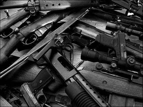 Guns by Flickr user barjack