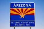 welcome to Arizona sign state line