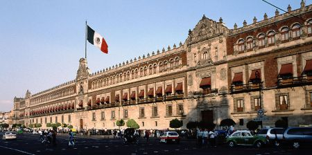 Mexico Presidential Palace photo by Flickr user Nanosmile