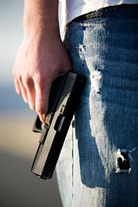 youth with handgun