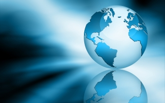 globe - blue