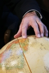 globe - pointing to South America