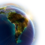 globe - south america - connections to world