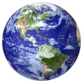 globe north south america