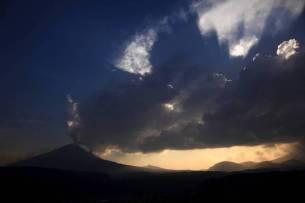 Popocatepetl volcano spews ash