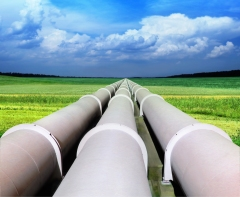 gas pipeline in green field