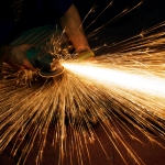 sparks while working