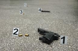 gun - crime scene