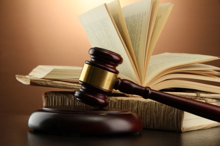 justice - gavel and book