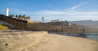 United States / Mexico Ocean Border Fence