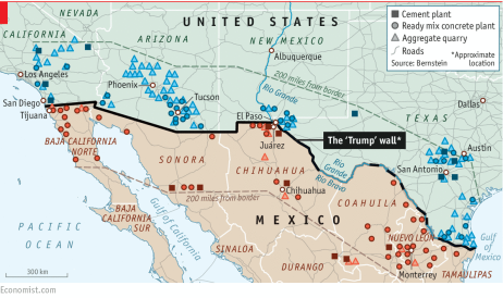 Trumps Border Wall May Be Controversial But Some Southern - Mexico us border wall map