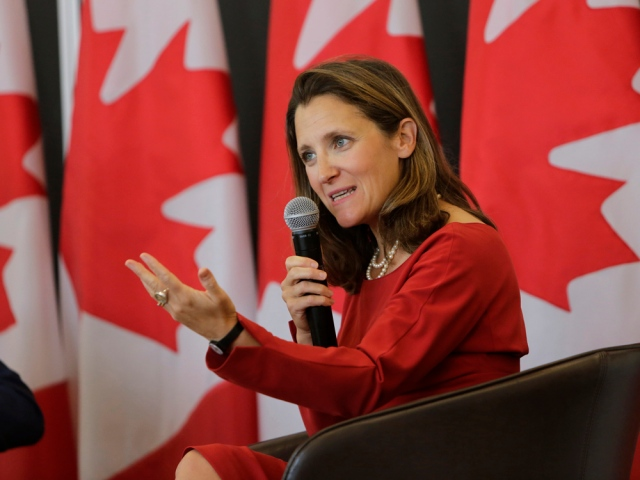 Canadian Foreign Minister†Chrystia Freeland†Testifies To Lawmakers On NAFTA