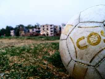 white soccer ball